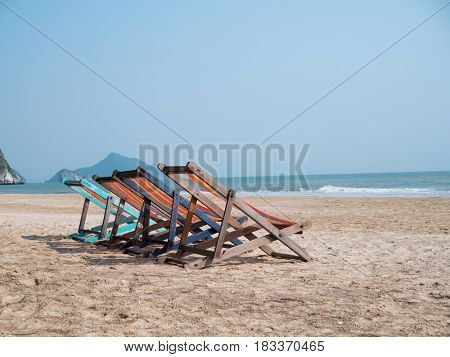 Photo of loungers on beach