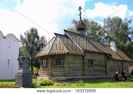 Staraya Ladoga Russia - July 17 2016: St. Dmitry Solunsky Church. The first time the Church was mentioned in 1646