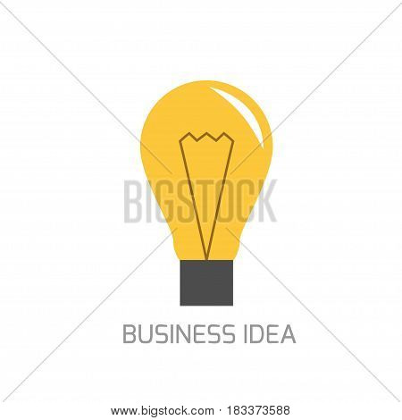 Business idea concept. Abstract lamp symbol, Vector illustration