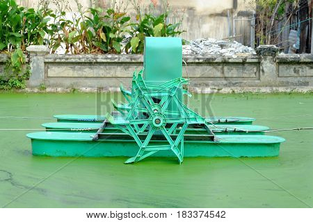 Water Oxygenation Turbine Machine for Water Pollution Issue.