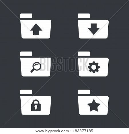 Folder Icon Set, computer and website folder icon set bundle design