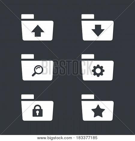 Folder Icon Set, computer and website folder icon set bundle design