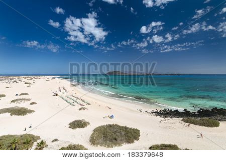 Corralejo Coastline In Fuerteventura, Spain