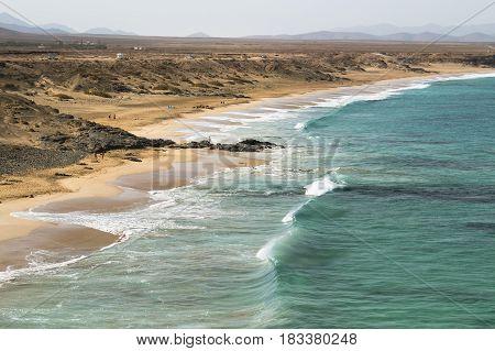 Playa Del Aljibe De La Cueva In Fuerteventura, Spain