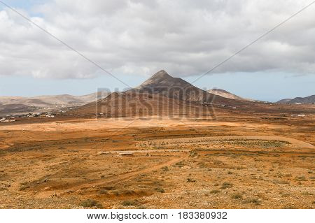Cerro De Aceitunal In Fuerteventura, Spain