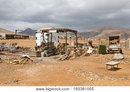 Desert Bar In Fuerteventura, Spain