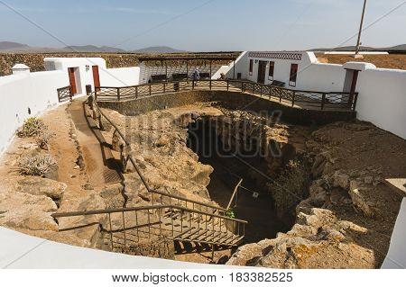 Cueva Del Llano In Fuerteventure, Spain, Editorial