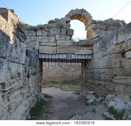 Chersonesus ruins, archaeological park, Sevastopol Crimea in Russia