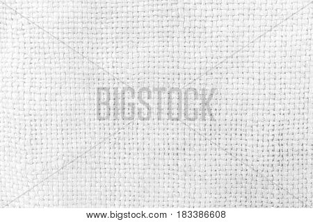 White Sack Texture Background. Suitable for Presentation and Web Templates with Space for Text.