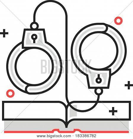 Color Box Icon, Criminal Law Illustration, Icon