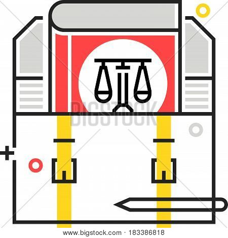 Color Box Icon, Employment Law Illustration, Icon