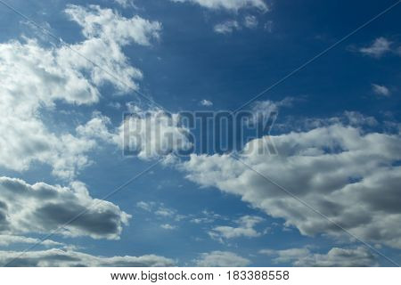 Blue Sky With Clouds On The Background