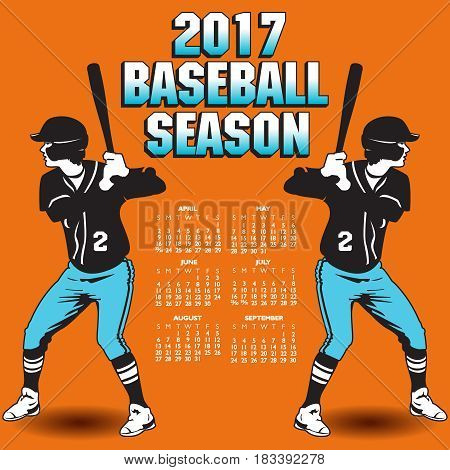 2017 baseball season artwork with two batters