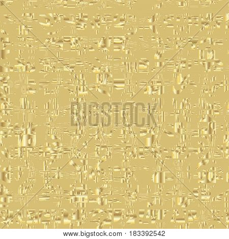 Abstract gold background. Background with many gold pieces. Vector illustration