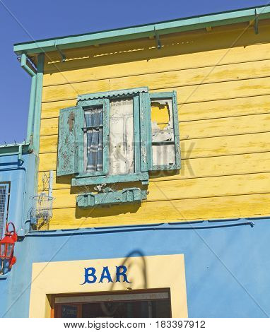 Caminito a traditional alley of great cultural and tourism in the district of La Boca in Buenos Aires Argentina.