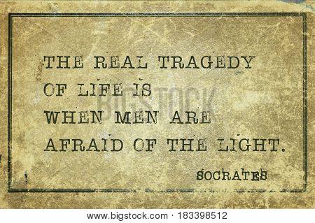 Afraid Of Light Socrates