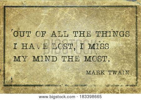 Lost Mind Twain