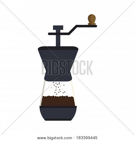grinder coffee related icon image vector illustration design