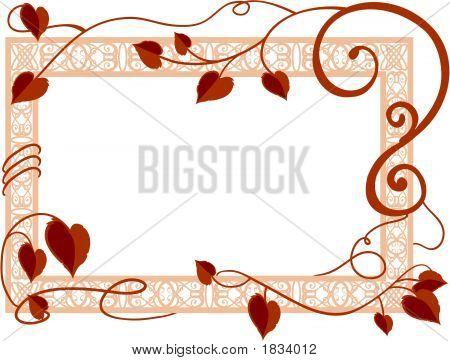 Leaves And Ornate Frame