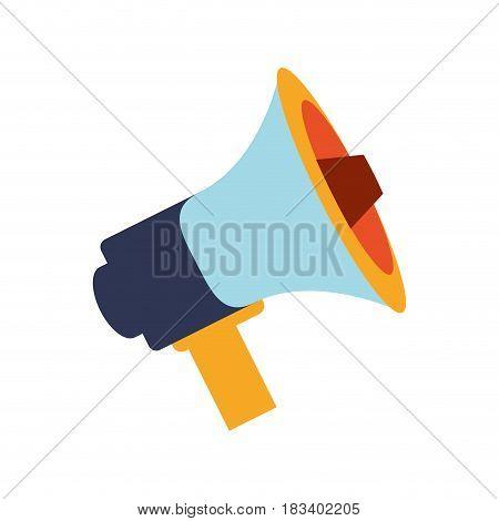 Bullhorn social media icon vector illustration graphic design