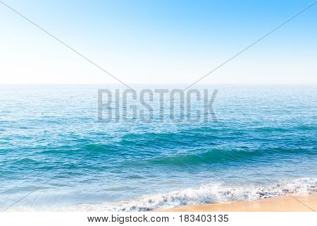 Ocean Waves Near The Bank