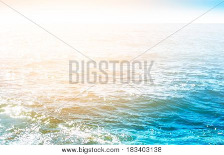 Bright Blue Water Surface