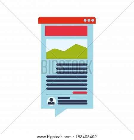 Blog online website icon vector illustration graphic design