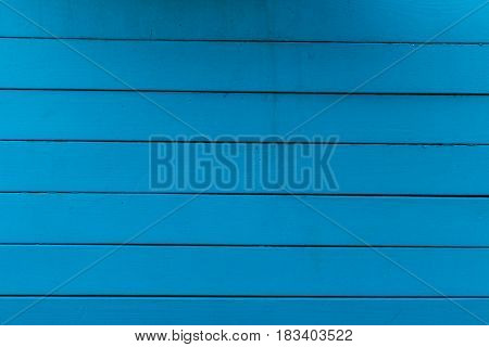 Texture Of Blue Painted Wood With Horizontal Lines