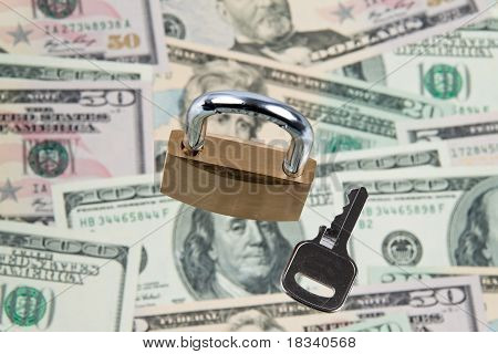 Dollar Currency notes with lock