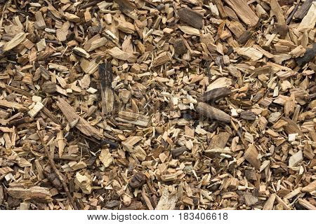 Texture Of Smoked Wood Chips In Natural Form