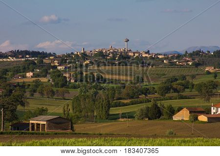 Beautiful view of Montefalco, the umbria city of wine and oil
