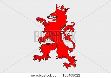 Flag of Selestat is a commune in the north-east region of France. Vector illustration