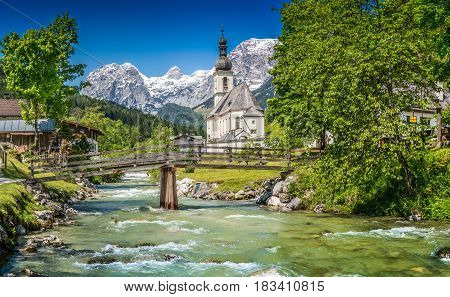 Ramsau Mountain Village, Berchtesgadener Land, Bavaria, Germany