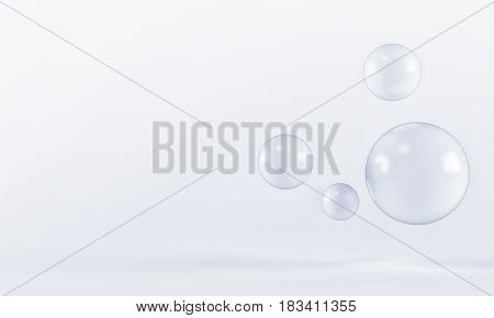 White shpere pearl background. 3 d rendering