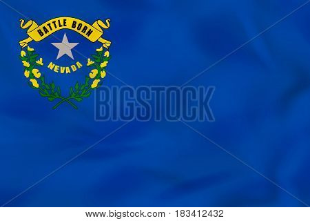 Nevada Waving Flag. Nevada State Flag Background Texture.