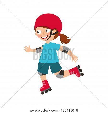 little skater avatar icon vector illustration design