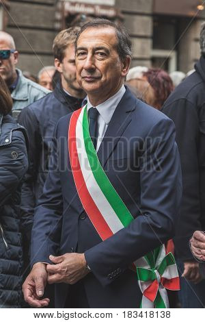 Mayor Giuseppe Sala Takes Part In The Liberation Day Parade
