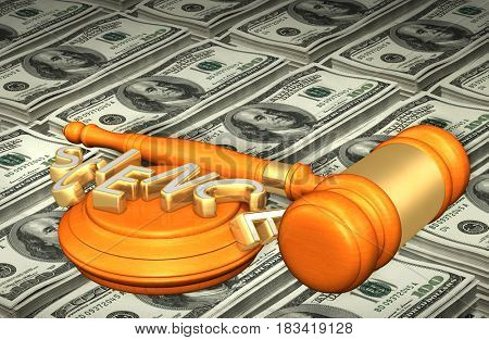 Science Legal Gavel Concept 3D Illustration
