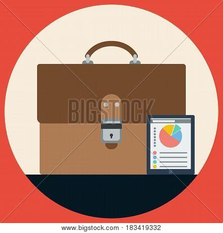 Business portfolio flat design style vector illustration