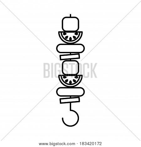 meat stick isolated icon vector illustration design