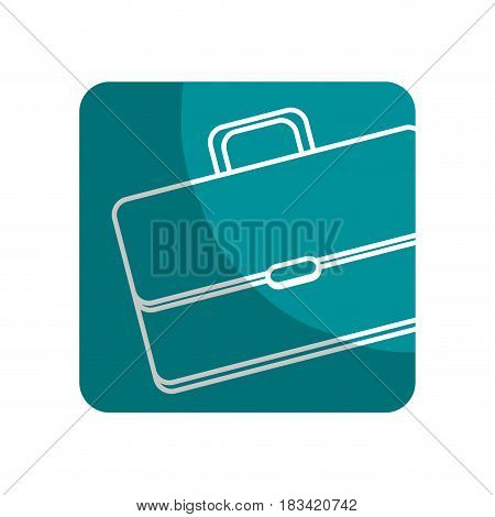 logotype suitcase to save business documents, vector illustration design