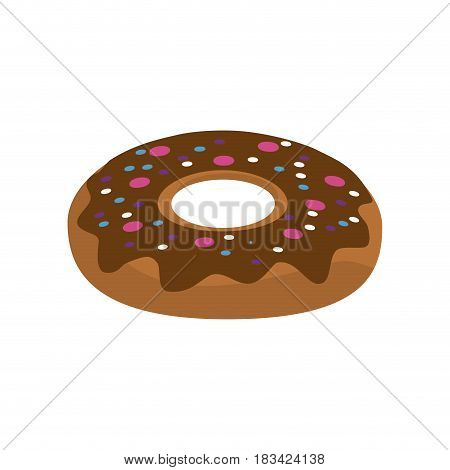 delicious sweet donut bakery snack, vector illustration