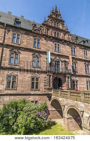 Facade Of Old Aschaffenburg Castle