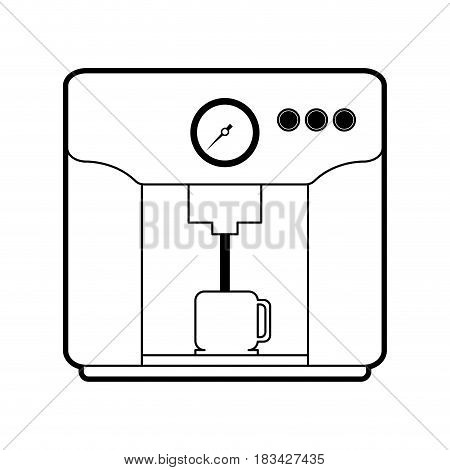 machine serving coffee related icon image vector illustration design