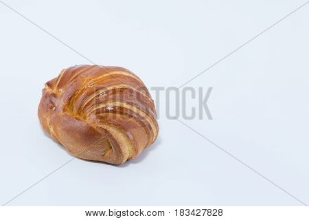 Croissant Brioche Bread Isolated On White Background