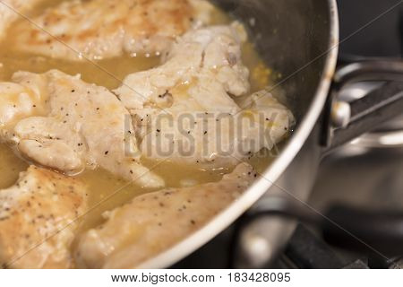 Sauteed Chicken Tenders in an Orange and Lemon Sauce
