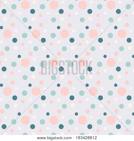 Background with blue and pink dots on blue stock vector illustration
