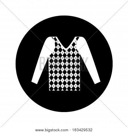masculine sweater clothes icon vector illustration design