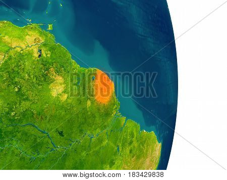 French Guiana On Planet