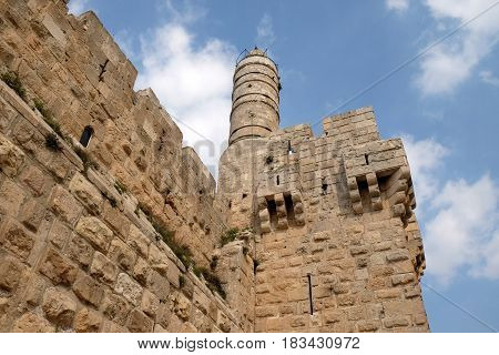 Citadel and the Tower of David in the Old City of Jerusalem